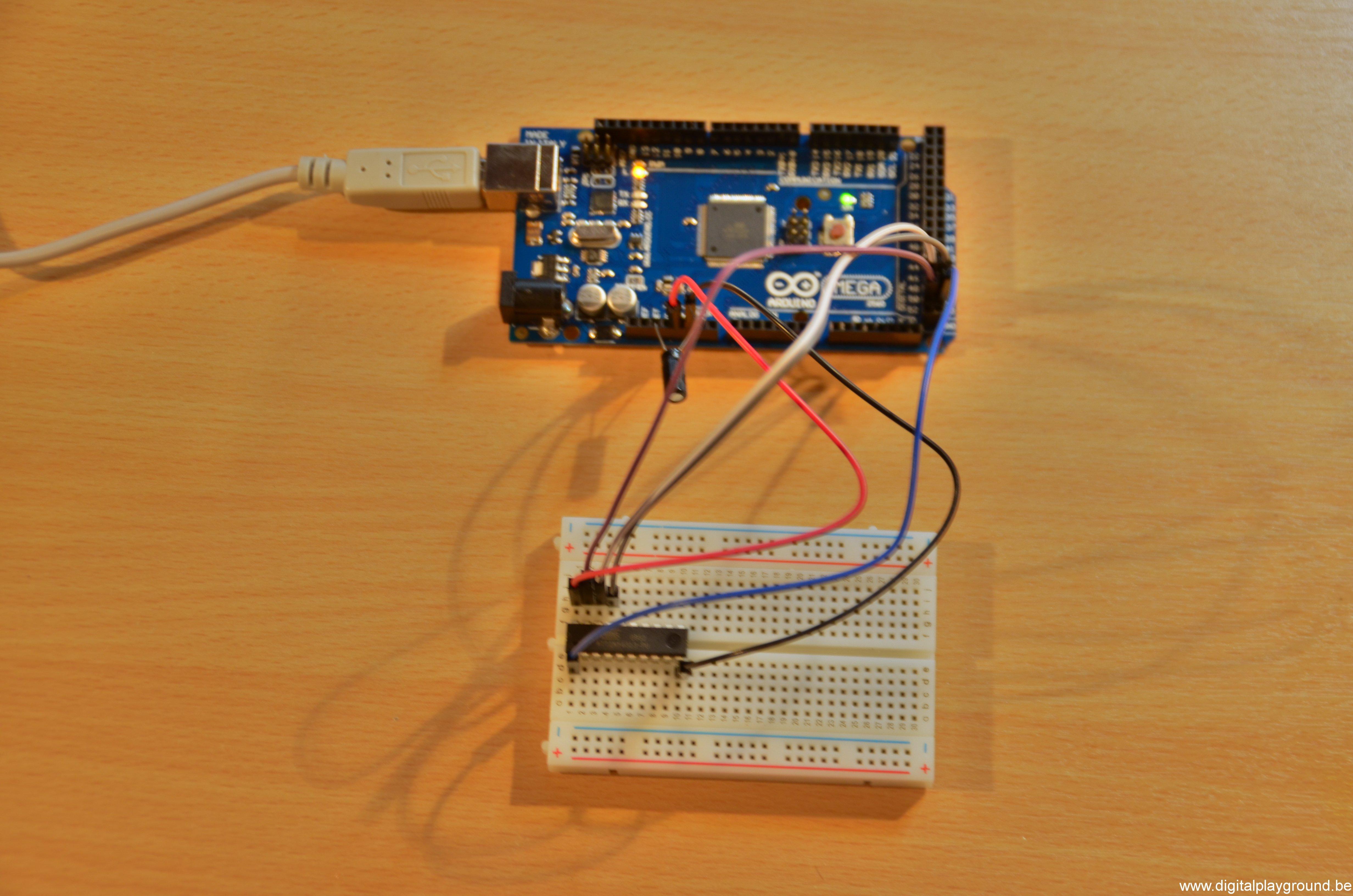 Arduino environment with attiny mini pro